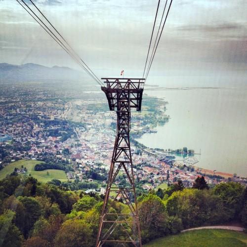 O lago Constance visto do monte Pfände