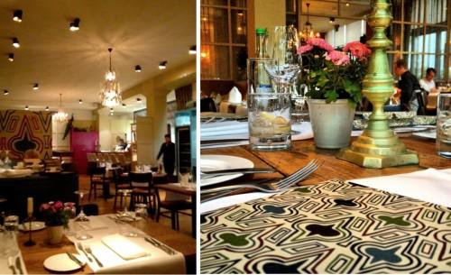 O restaurante está instalado numa antiga fábrica e o estilo é mediterrâneo.