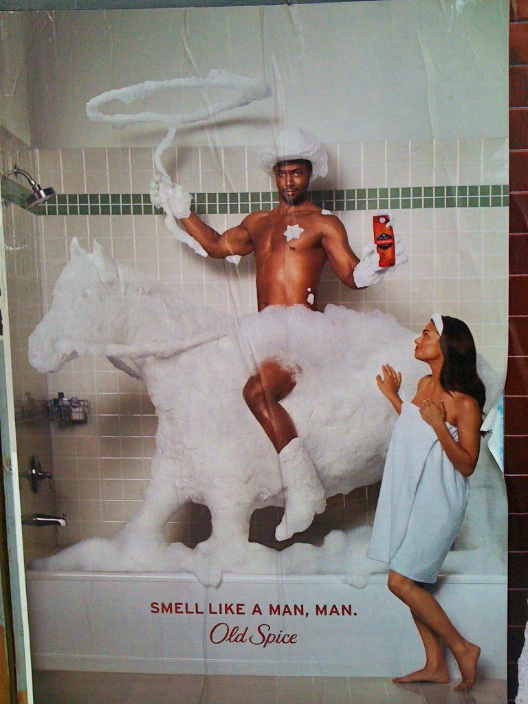 Acho que essa marca de desodorante tem uma ideia um pouo equivocada do que seja um homem de verdade...