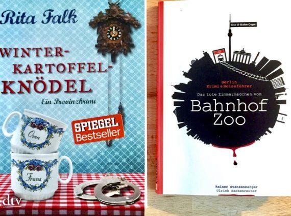 A imagem mostra as capas dos dois livros resenhados.